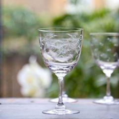 Set of 6 'Ferns' Wine Glasses