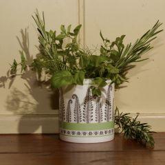 Fine Bone China Candle Natural Plant Wax Lime Basil Mandarin Fragranced Fern