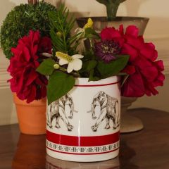 Fine Bone China Candle Natural Plant Wax Spicy Peppery Pomegranate Fragranced Elephant