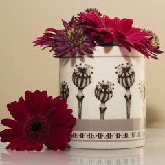 Fine Bone China Candle Natural Plant Wax Sandalwood Fragranced Poppy Seed