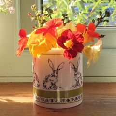Fine Bone China Candle Natural Plant Wax Stargazer Lily Hibiscus Fragranced Hare