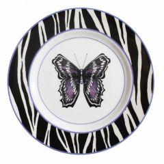 Zebra Butterfly Dinner Plate