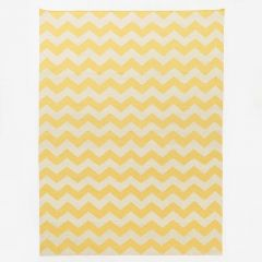 Flatwoven New Zealand Wool Marigold Chevron Zig-Zag Rug
