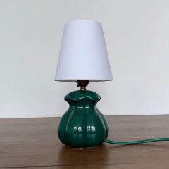 FRENCH TEAL POTTERY LAMP