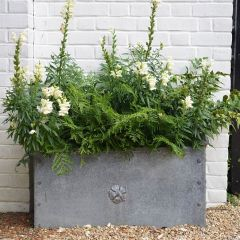 Traditional Hand Crafted Steel Trough Planter