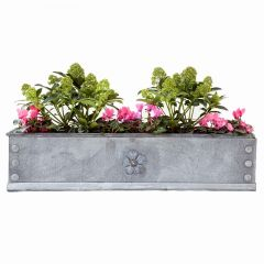 Vintage Steel Window Boxes with Tudor Rose Detailing