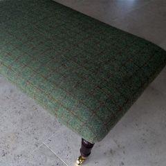 Green Tweed Footstool