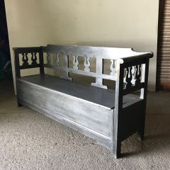 Grey Painted Settle