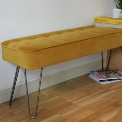 Hairpin Leg Panel Bench