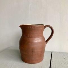 Handmade Brown Pottery Jug