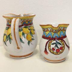 Handmade Hand Decorated Ceramic Water Jug Kitchen Tableware