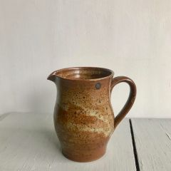 Handmade French Stoneware Pottery Jug