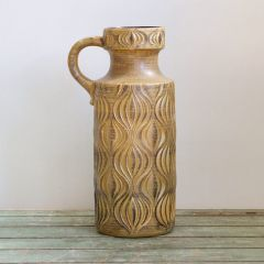 Handmade German Pottery Vase Patterned