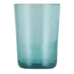 Handmade Hand Blown Bubble Glass Unique Tumbler Cup Exotic Blue
