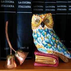 Handmade Hand Decorated Owl Bookend Ornament