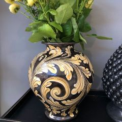 Handmade Hand Painted Antique Style Bummolo Vase