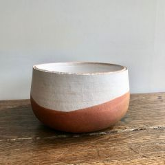 Handmade Large Raku Ceramic Unique Bowl