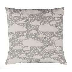 Handmade Cotton Reversible Cloud Rain Cushion Grey