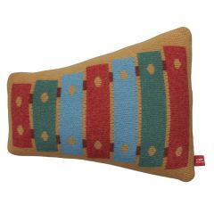 Handmade Knitted Lambswool Reversible Cushion Xylophone Shaped