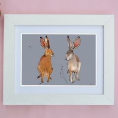 'Hare' Signed Print