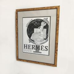 Original 1930s Vintage Framed Poster Advert for Hermes Fashion House