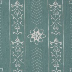 'Valencia' Floral Leaf Designer Fabric in Teal
