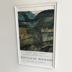 Original 1965 Jean Claude Bertrand Vintage Framed Poster