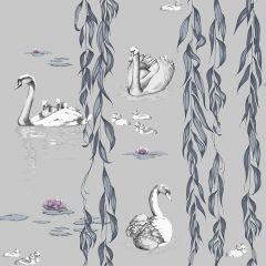 Juliet Travers Regal Wallpaper Blue Main