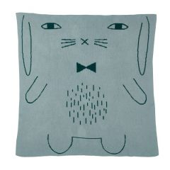 Lambswool Cotton Soft Baby Blanket Rabbit Duck Egg Blue