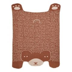Bear Shaped Lambswool Throw