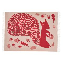 Red Squirrel Lambswool Throw