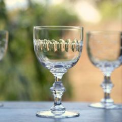 Set of 6 'Lens' Wine Goblets