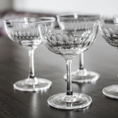Set of 6 'Lens' Champagne Glasses