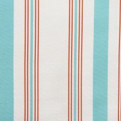 Stylish Summer Stripes Designer Fabric in Coral & Aqua