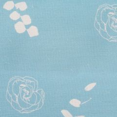 Eucalyptus Floral Leaf Designer Fabric in Aqua Blue