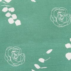 Eucalyptus Floral Leaf Designer Fabric in Apple Green