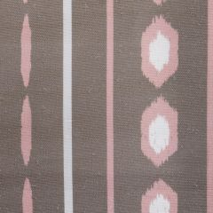 'Ikat' Geometric Stripes Designer Fabric in Fallow & Pink