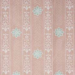'Valencia' Floral Leaf Designer Fabric in Sandy Pink