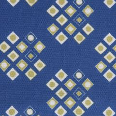 'Pilgrim' Diamond Pattern Designer Fabric in Lapis & Lime