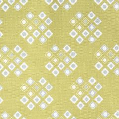 'Pilgrim' Diamond Pattern Designer Fabric in Lime Green