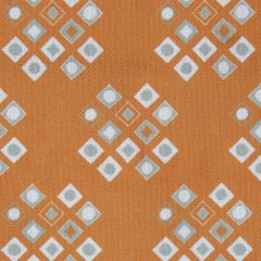 'Pilgrim' Diamond Pattern Designer Fabric in Orange Ochre