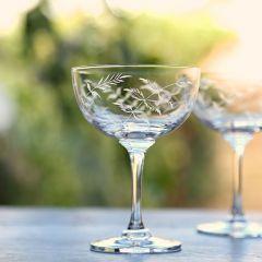Set of 6 'Ferns' Champagne Glasses