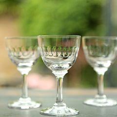 Set of 6 'Lens' Liqueur Glasses