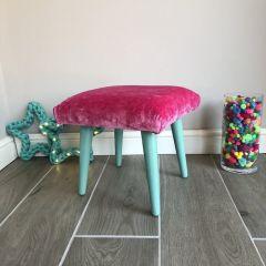 'Watermelon' Woven Wool Footstool