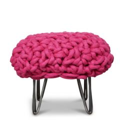 """Helena"" Hand Woven Merino Wool Footstool"
