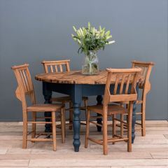 Round Rustic Farmhouse Dining Table (Various Customisable Options Available)