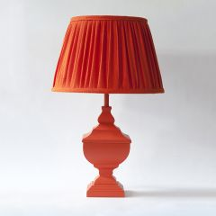 Monochrome Orange Lampshade