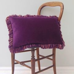 Luxury Velvet Mill Cushion in Heather Purple