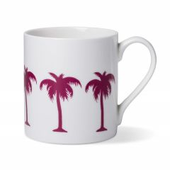 Cerise Palm Tree Coffee China Mug