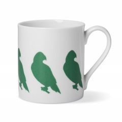 Green Parakeet Coffee China Mug